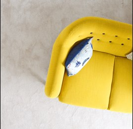 Clean Yellow Fabric Couch