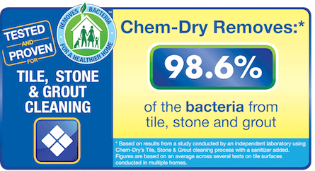 Hampton's Chem-Dry's Stone, Tile & Grout Cleaning Removes 98.6% of Bacteria For A Healthier Home